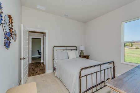 Simple yet elegant view of a bedroom.