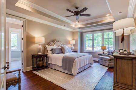 Beautiful and elegant bedroom. Archivio Fotografico