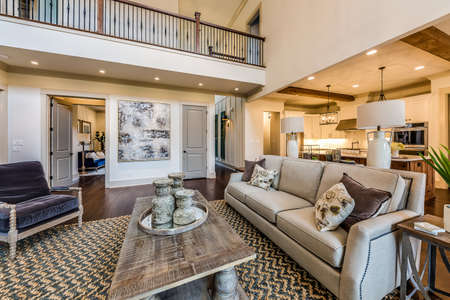 A very expansive living room.