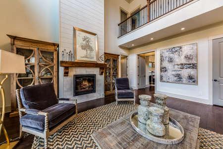 A very expansive living room. Standard-Bild