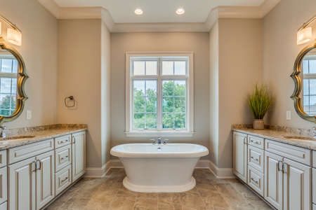 Not too big freestanding tub and in romantic spa-like master suite