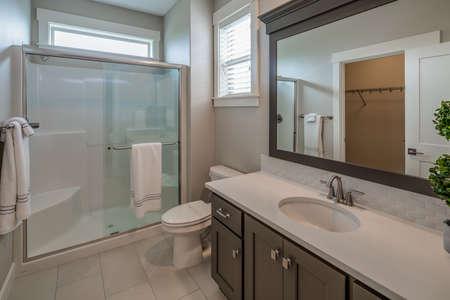 A unique design of a bathroom. 写真素材