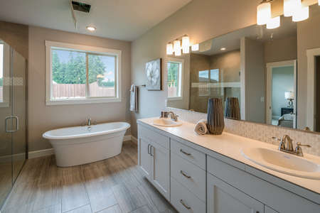 Simple and beautiful view of a bathroom.