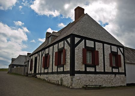Fortress de Louisbourg in Cape Breton, Nova Scotia
