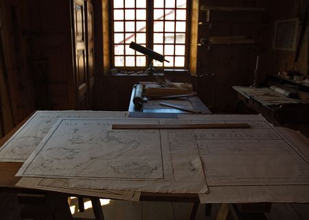 documented: The interior of one of the engineers from louisbourg