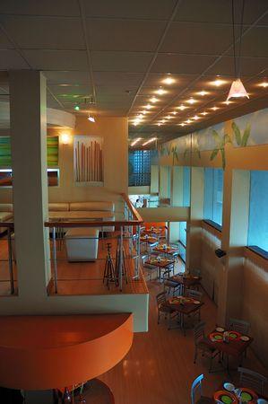 The interior of the Mango's restaurant in Lima Peru Stock Photo - 683566