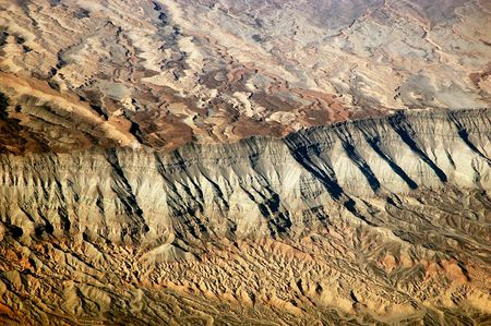 An aerial view of the andes mountains Stock Photo