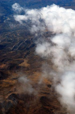 Une vue a�rienne de la Cordill�re des Andes