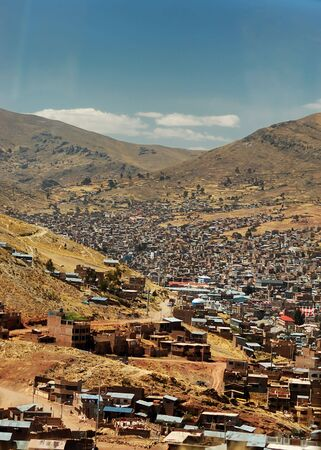 Heavily populated highland city of Puno, Peru