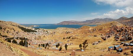 Heavily populated highland city of Puno, Peru