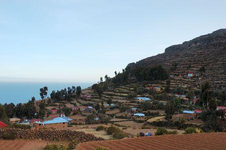 Amantani Island on Lake Titicaca, Peru South America Stock Photo - 718751