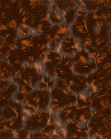 Calico Bed Head fur hair shiney