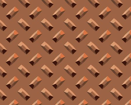 diamond plate industrial background short copper Stock Photo