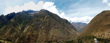 andes mountain: Andes mountain range along the Inca Trail