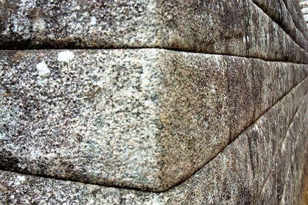 Inca Stone Wall Corner in Machu Picchu Imagens - 766387