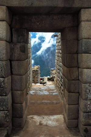 Machu Picchu, Inca Ruins at the end of Inca Trail in the Andes Mountains