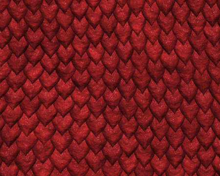 reptile skin background of large red scales