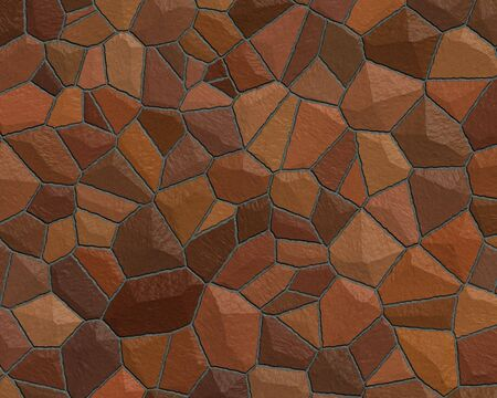 stone wall construction pattern dark red