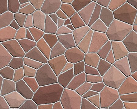 stone wall construction pattern large red brown Stock Photo - 766337