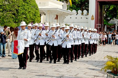 Royal Thailand Army changing of the Guards Stock Photo