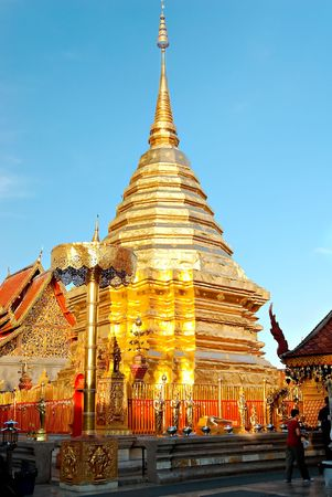Buddhist temple in Bangkok, Thailand Stock Photo - 2078646