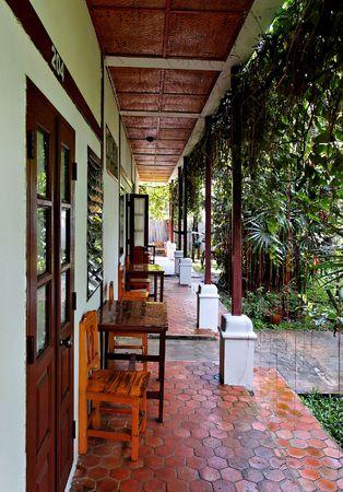jungle lodge dans le nord de la Tha�lande Banque d'images