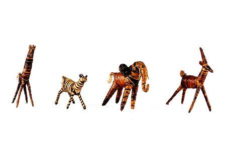 african animaux isol�s de feuilles bananna