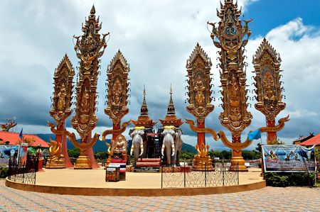 Elephant monument at the golden triangle, Thailand