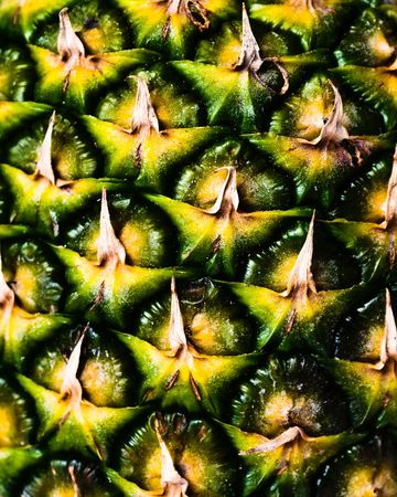 closeup of the surface of a pineapple