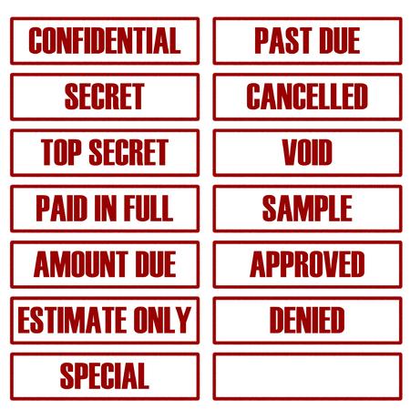 표준 고무 스탬프 및 자신의 있도록 빈 집합입니다. 스톡 콘텐츠