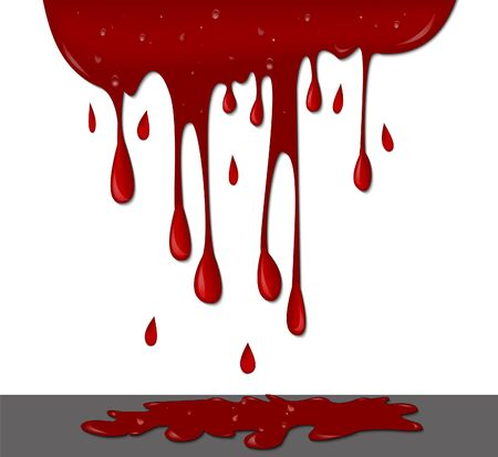 dripping: Blood on wall dripping Illustration