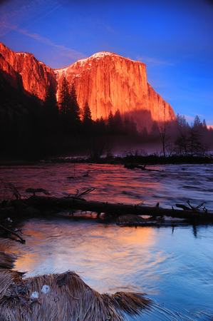 El Capitan at Merced River Yosemite National Park California USA Reklamní fotografie