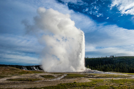 faithful: Old Faithful Geyser Erupting