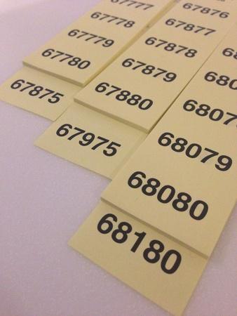 Tickets for raffles