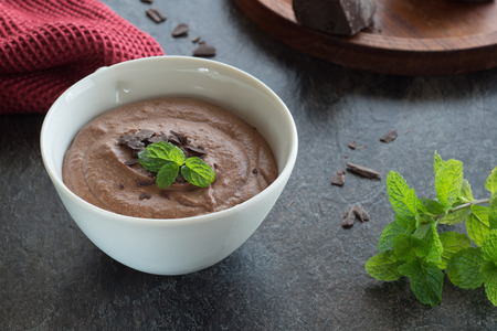 mint chocolate mouse Stock Photo