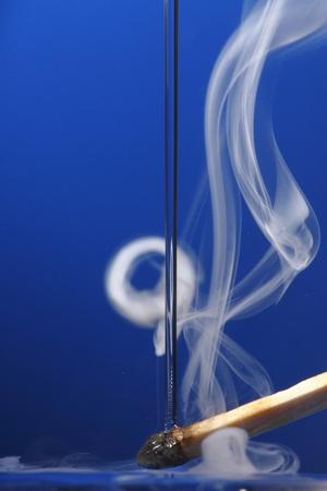 phosphorus: Phosphorus off with water casting a smoke Stock Photo