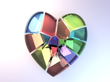 Shattered Rainbow Heart