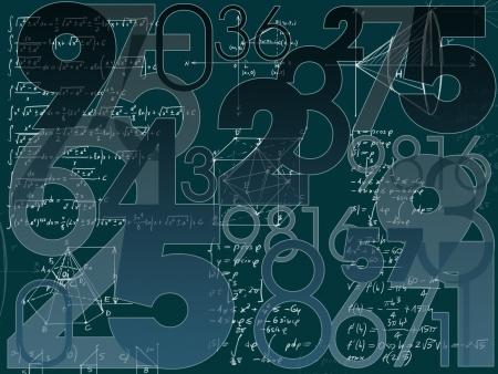 mathématique abstrait illustration numéros