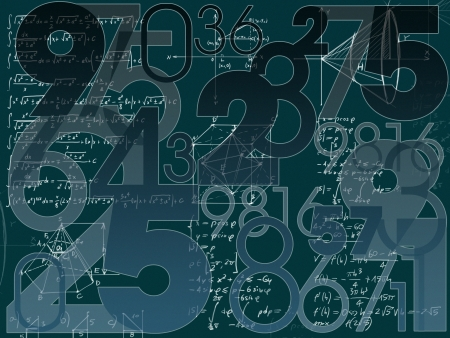 mathematical abstract numbers background illustration
