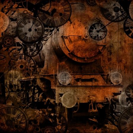grunge locomotive d'époque vapeur machinebackground temps texture Banque d'images