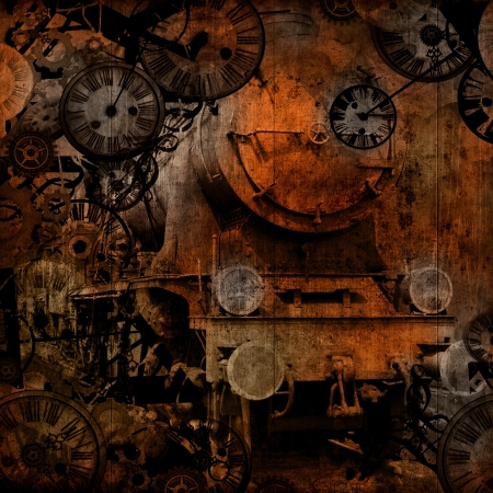 grunge vintage steam locomotive time machinebackground texture