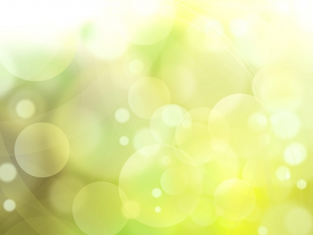 green light bubbles abstract background illustration