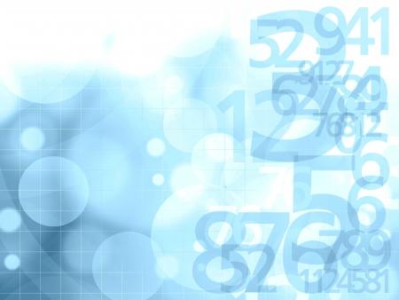 illustration numéros fond bleu