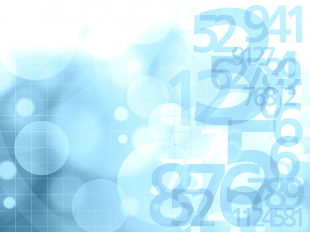 numbers blue background illustration Archivio Fotografico