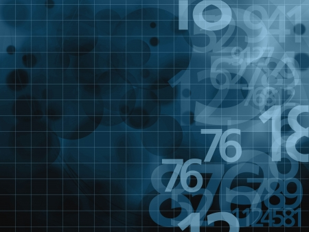 chiffres noirs sur fond bleu illustration Banque d'images