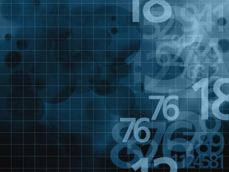 matematica: n�meros ilustraci�n fondo azul oscuro Foto de archivo