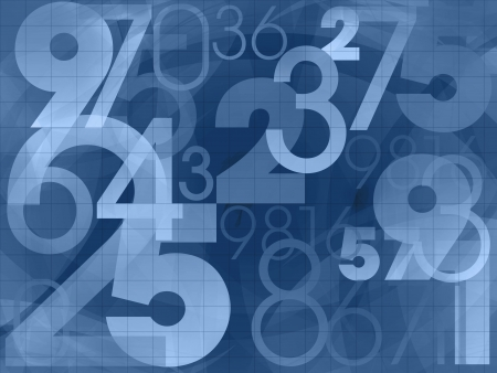 numbers dark blue background illustration illustration