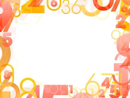 Cadre mathématique avec des numéros de couleurs aléatoires