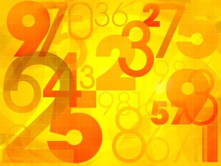 Abstract colorful background with numbers illustration