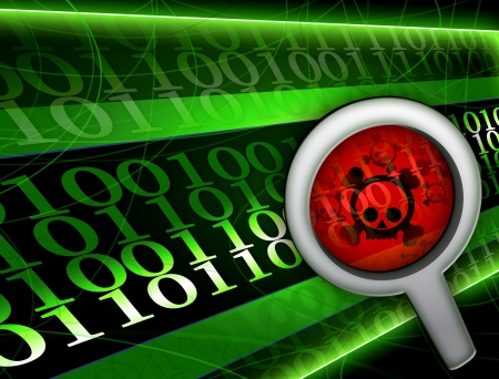 pirate virus hacker background illustration